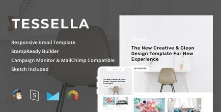 دانلود قالب HTML ایمیل و خبرنامه Tessella همراه با صفحه ساز آنلاین