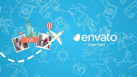 دانلود پروژه افتر افکت آماده لوگو مسافرتی Travel Flight Logo