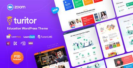 دانلود قالب Turitor قالب راه اندازی دوره آموزشی آنلاین در وردپرس