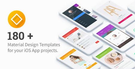 دانلود 180 تمپلیت رابط کاربری اپلیکیشن UI Templates for IOS