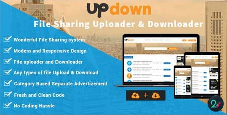 اسکریپت دانلودر و آپلود سنتر فایل UpDown