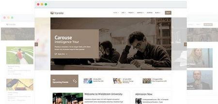 قالب آموزشگاه آنلاین Varsita برای جوملا