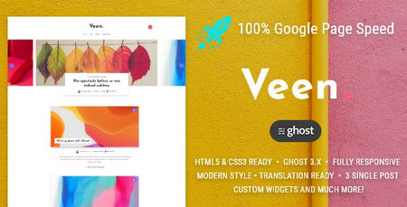 دانلود قالب Veen   قالب وبلاگی برای وردپرس