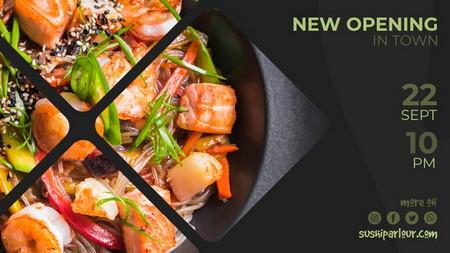 دانلود طرح لایه باز قالب بنر تبلیغاتی برای رستوران ژاپنی