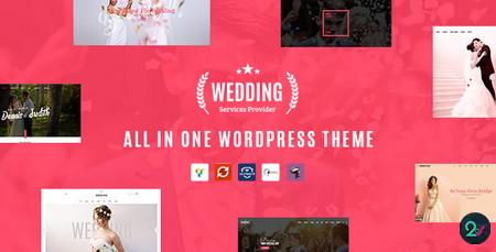 مجموعه قالب های مراسم عروسی Wedding برای وردپرس