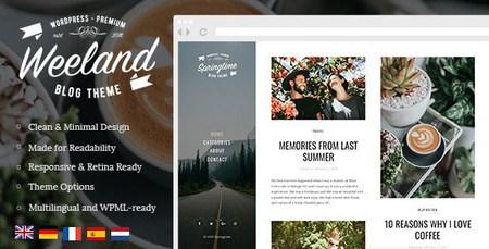 دانلود قالب وبلاگی Weeland برای وردپرس