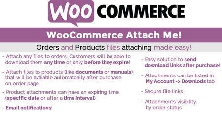 افزونه ضمیمه کردن فایل به سفارشات ووکامرس WooCommerce Attach Me