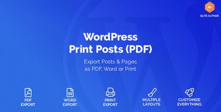 افزونه پرینت مطالب و صفحات وردپرس WordPress Print Posts & Pages (PDF)
