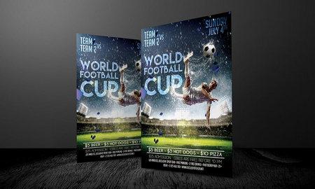 دانلود طرح لایه باز تراکت و پوستر جام جهانی فوتبال