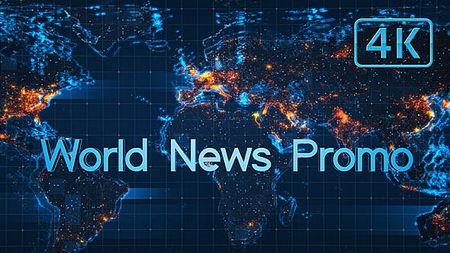 دانلود پروژه آماده افتر افکت نمایش اخبار جهان World News Promo
