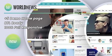 پوسته مجله خبری WorldNews برای وردپرس