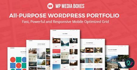 افزونه نمایش نمونه کار در وردپرس WP Media Boxes Portfolio
