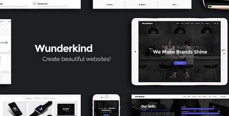 دانلود قالب HTML تک صفحه پارالاکس Wunderkind
