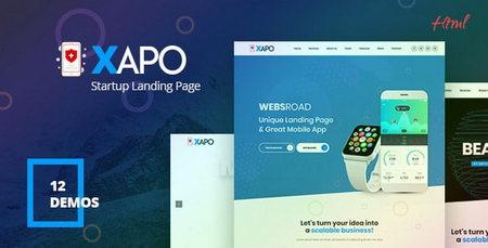 قالب HTML صفحه فرود واکنش گرا Xapo