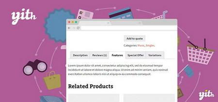 افزونه مدیریت تبهای صفحه محصولات ووکامرس YITH WooCommerce Tab Manager