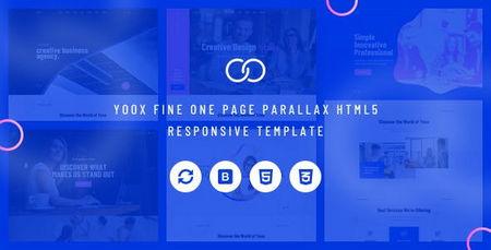قالب HTML تک صفحه پارالاکس Yoox